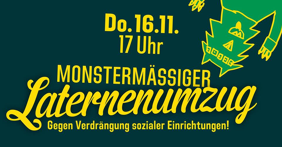 Monstermässiger Laternenumzug