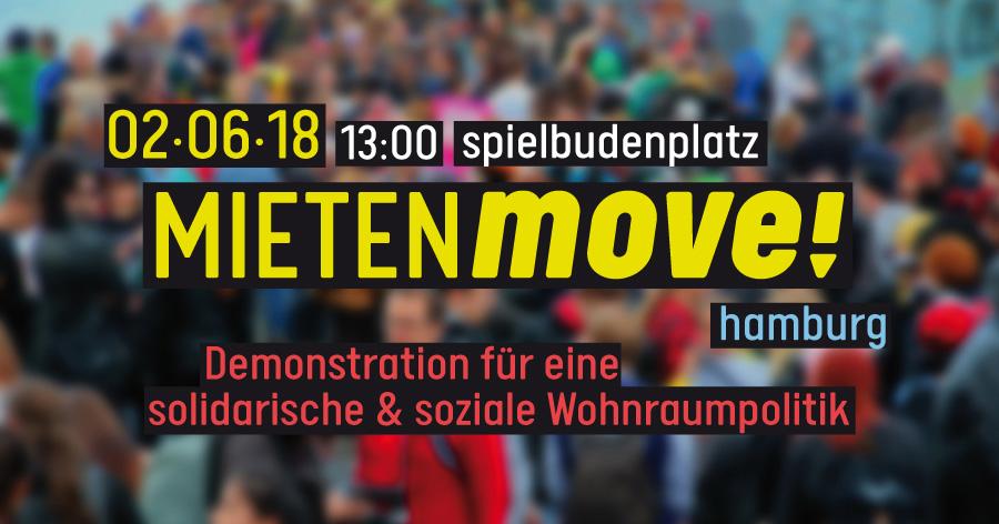 MIETENmove! – Demonstration für eine solidarische und soziale Wohnraumpolitik